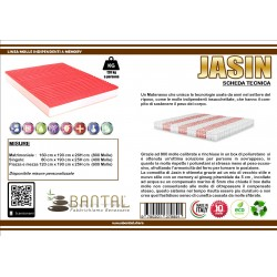 Materasso molle insacchettate e memory modello JASIN